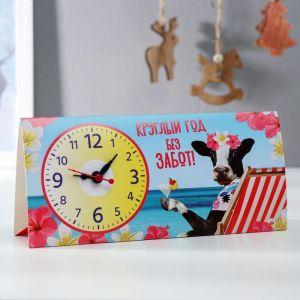Часы-календарь настольные «Круглый год без забот» 5110359
