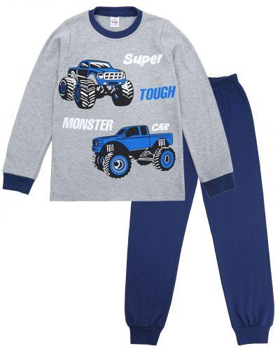 "Пижама для мальчика 9-12 лет Bonito kids ""Monster car"" серая"