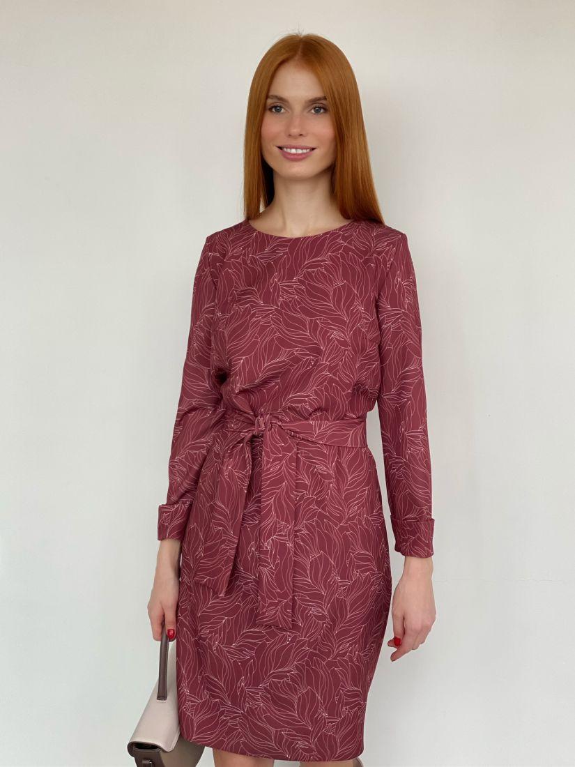 s2757 Платье-кокон в коньячном оттенке