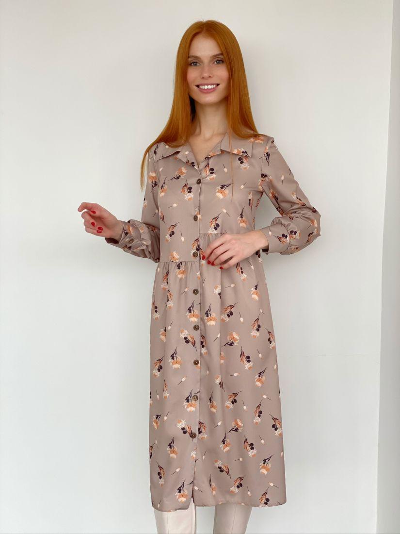 s2769 Асимметричное платье с нежным принтом