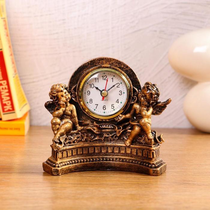 """Часы настольные """"Ангелы"""", 1 АА, дискретный ход,  14х7х12.5 см   5180708"""