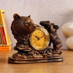 """Часы настольные """"Медведица"""", 1 АА, дискретный ход,  23х8.7х19 см   5180704"""