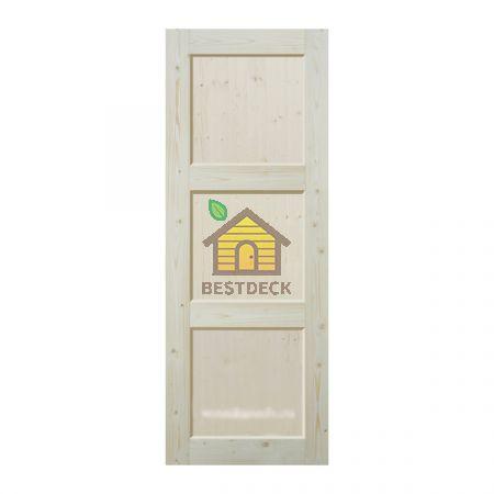 Двери из массива сосны неокрашенная; филёнчатая ДГФ-ЗФ