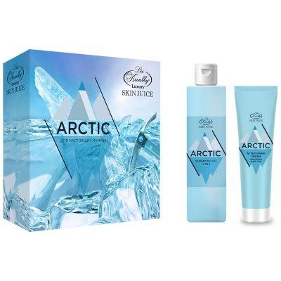 Liss Kroully Skin juice Парфюмерно-косметический подарочный набор MN-1802 Для мужчин Шампунь-гель 2 в 1 260 мл + Гель после бритья 100 мл