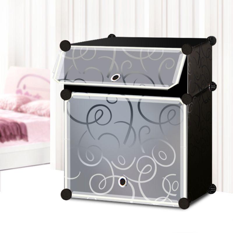 Складной шкаф, 45х35х52 см (2 отделения), черный