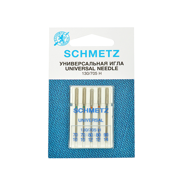 Иглы стандартные Schmetz 130/705H № 70(2),80(2),90 (22:15.2.VHS)