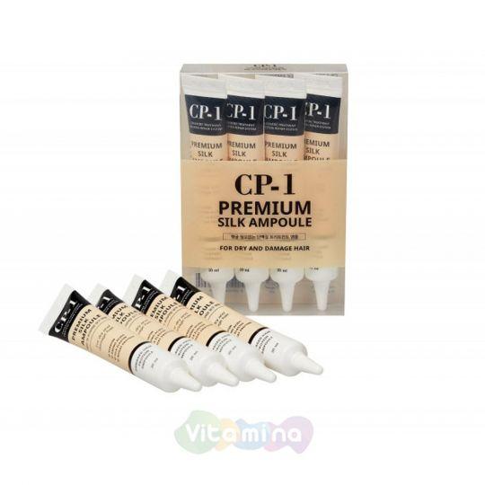 Esthetic House Сыворотка для волос с протеинами шёлка CP-1 Premium Silk Ampoule, 4х20 мл