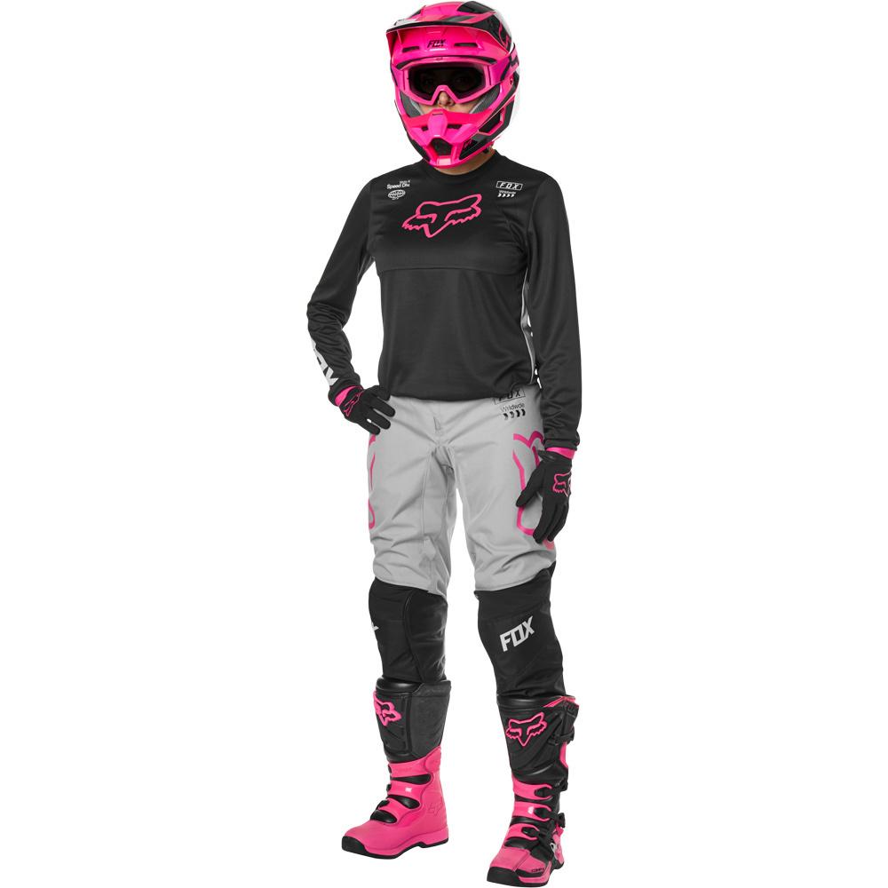 Fox - 2019 WMN 180 Mata Drip Black/Pink комплект женский джерси и штаны, черно-розовый