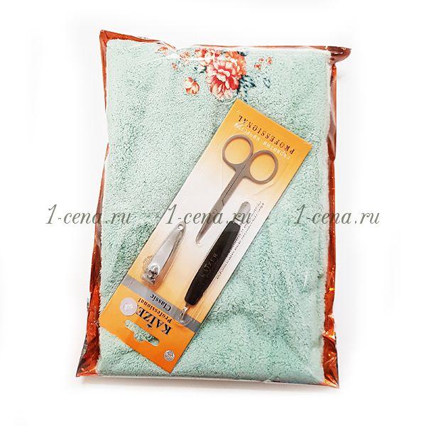 Подарочный набор Полотенце микрофибра+ набор для маникюра