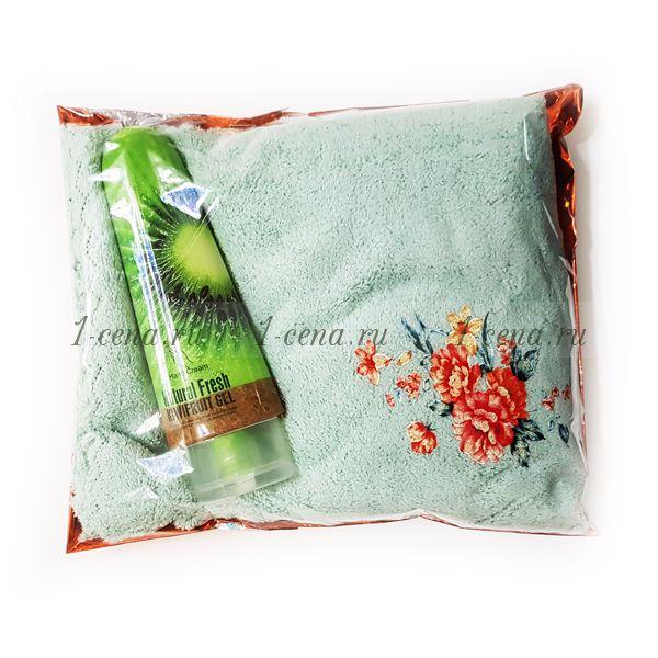 Подарочный набор Полотенце микрофибра+ крем пунш