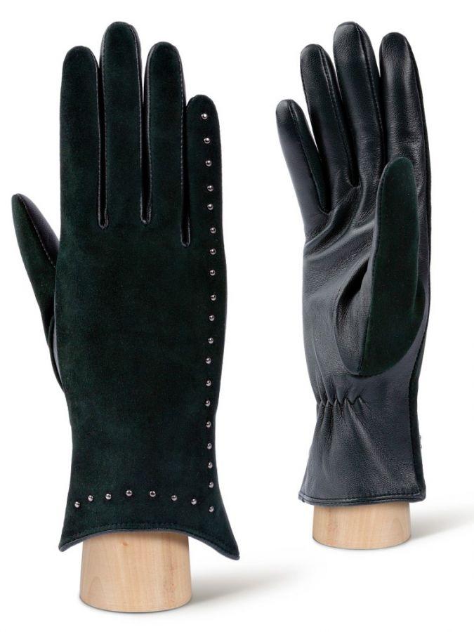 Зеленые кожаные перчатки LABBRA