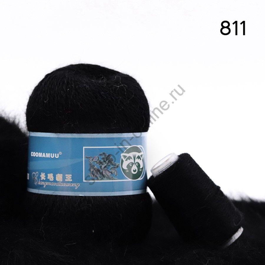 Плюшевая пряжа с шерстью норки 811