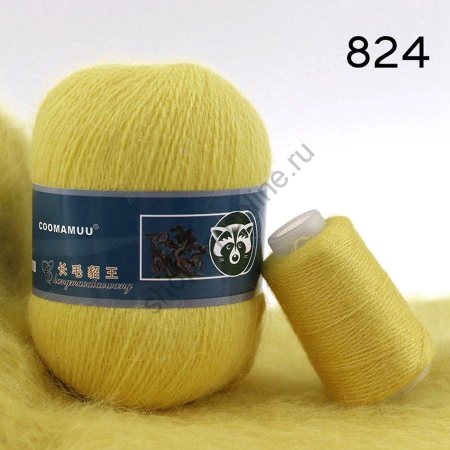 Плюшевая пряжа с шерстью норки 824