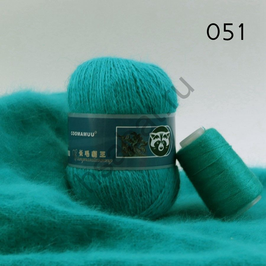Плюшевая пряжа с шерстью норки 051