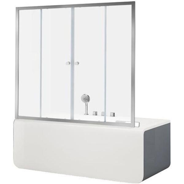 Шторка для ванны Aquanet Alfa 5 NAA6142 150, прозрачное стекло