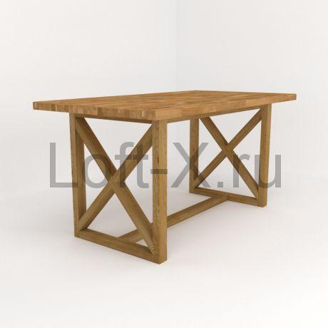 """Обеденный стол """"Дизайн XО"""" из массива дуба"""