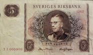 Швеция 5 крон 1962