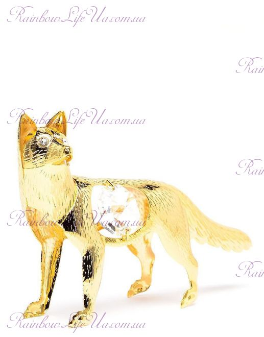 "Фигурка лисичка с камнями ""Swarovski"""