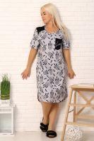 Платье 15052 [серый]