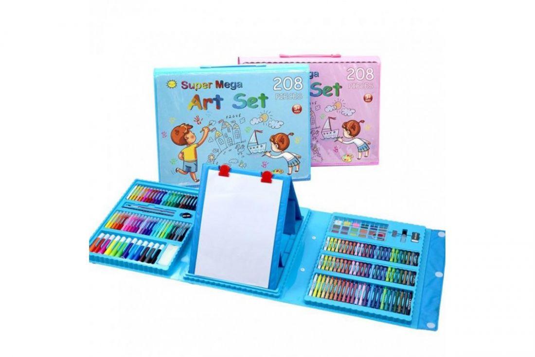 Детский набор для рисования из 208 предметов Kids