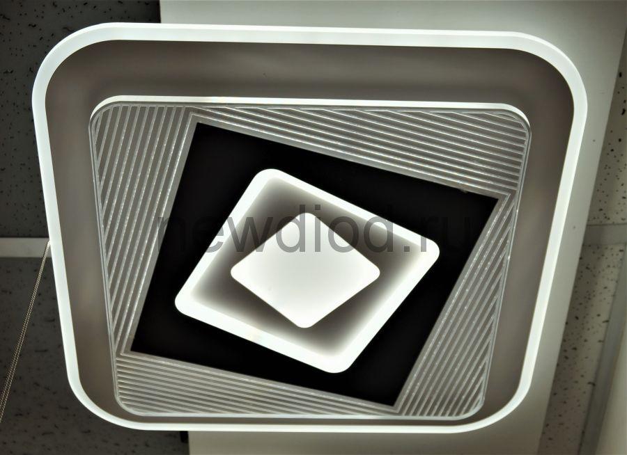 Управляемый светодиодный светильник Geometria 1938 80Вт 6/3/4000K пульт 500мм белый Oreol