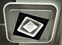 Управляемый светодиодный светильник GEOMETRIA 1938 80Вт-20м² 6/3/4000K пульт 500мм белый Oreol