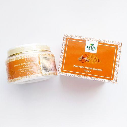 Аюрведический травяной крем Куркума | Ayurvedic Herbal Turmeric Cream | 30 г | AyurGanga