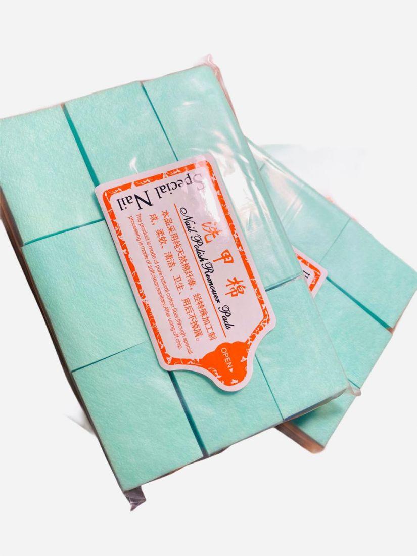 Cалфетки для снятия шеллака (упаковка 1000 шт.)  мятный цвет! плотные