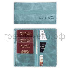 Чехол для карт Феникс+ ЛИНКОЛЬН органайзер на резинке 115х204мм бирюзовый 52926