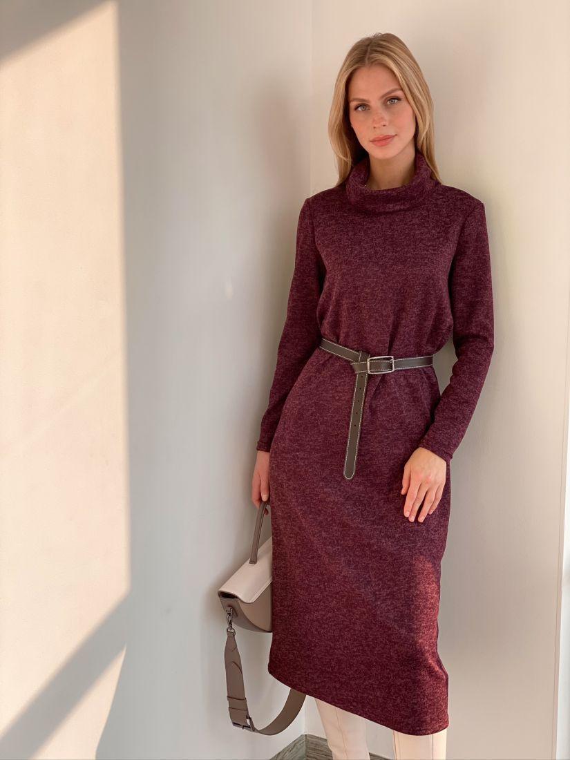 s2926 Платье-свитер в цвете burgundy