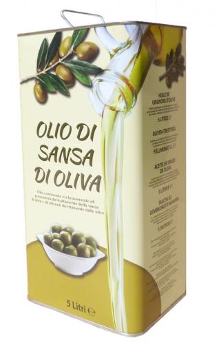 Оливковое масло для жарки Olio di sansa di oliva 5л