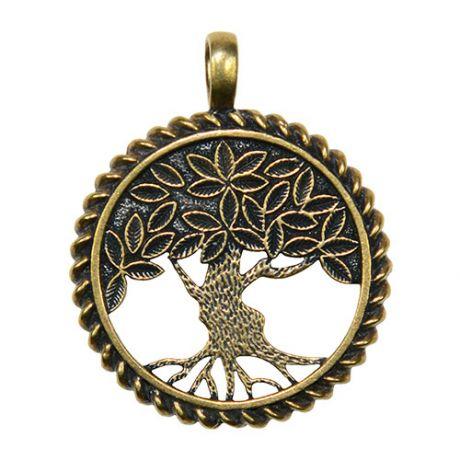 Оберег Дерево жизни №2, латунь