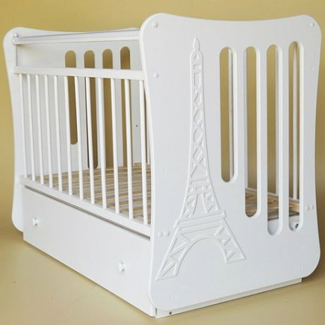 Кроватка детская Вояж маятник поперечный с ящиком