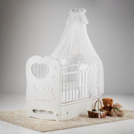 Кроватка детская Слоненок маятник поперечный с ящ