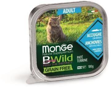 Monge Cat Bwild Grain free беззерновые консервы из анчоусов с овощами для кошек