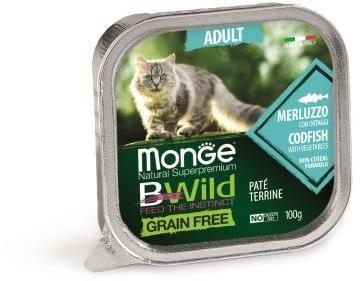 Monge Cat Bwild Grain free беззерновые консервы из трески с овощами для кошек
