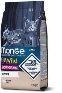 Monge Cat BWild LOW GRAIN Kitten низкозерновой корм из мяса гуся для котят