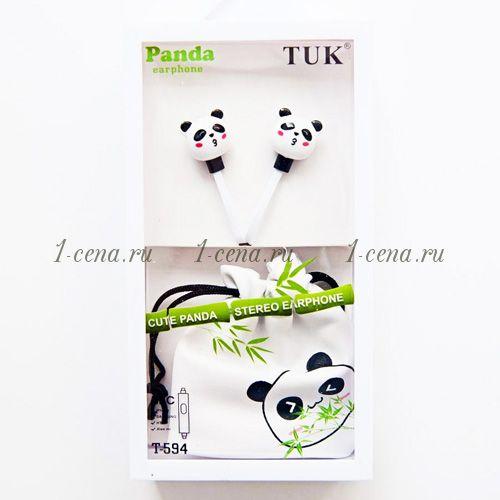 Наушники TUK-594 панды в мешочке