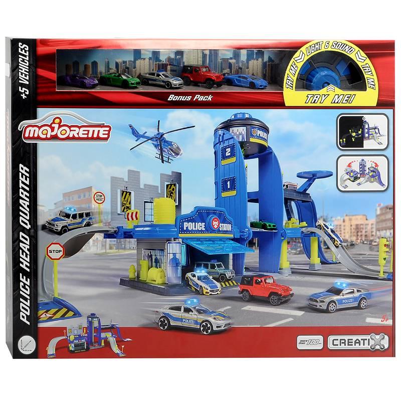 Игровой набор Majorette - Главное управление полиции Majorette Creatix + 5 машин 2050030