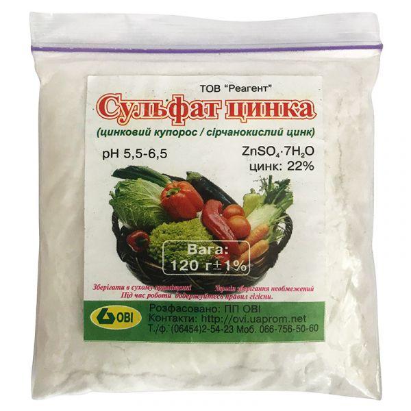 """Сульфат цинка (сернокислый цинк), 120 г, от """"Реагент"""", Украина"""