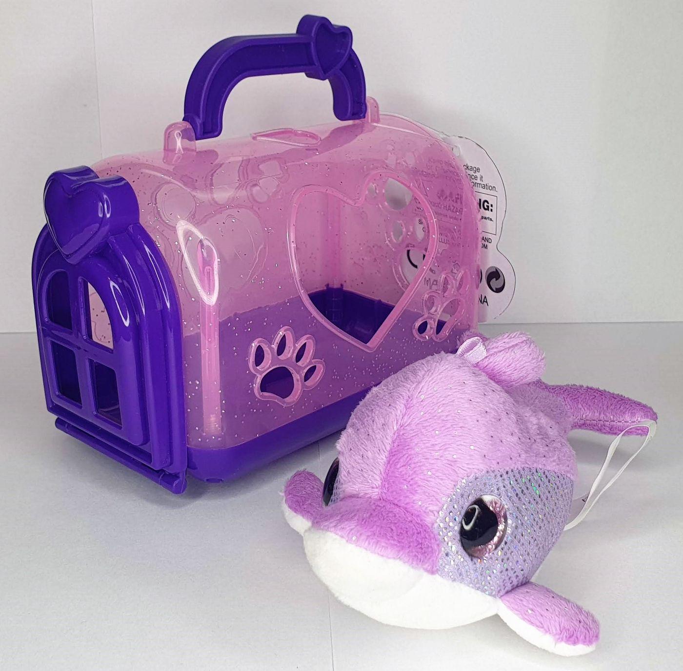 Мягка игрушка дельфин с домиком милые глазки Cute Pets