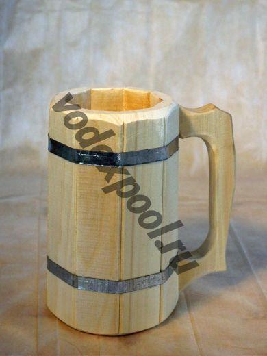 Кружка деревянная 1 л