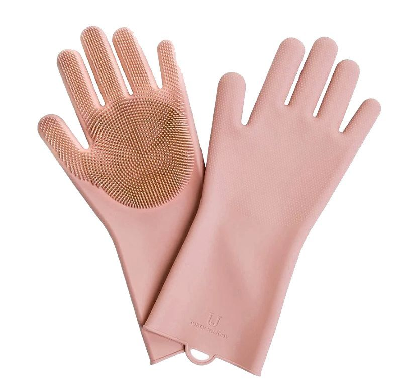 Силиконовые перчатки для уборки Xiaomi Jordan&Judy Silicone Gloves ( Розовый )