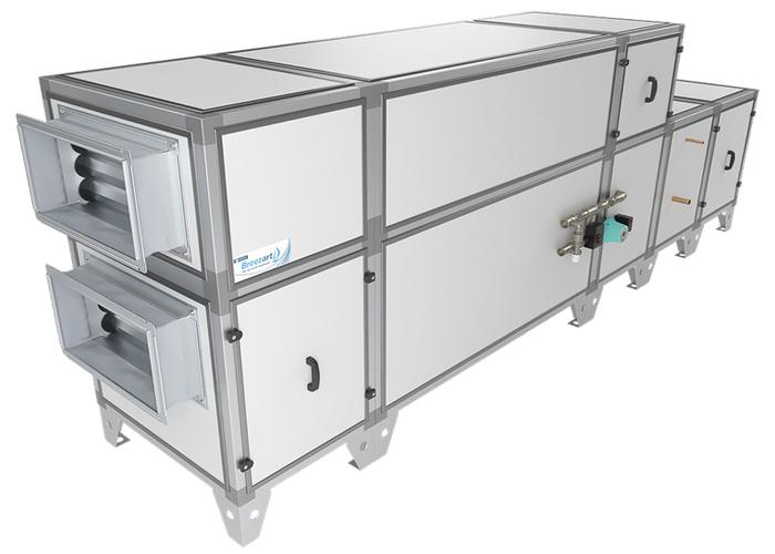 Приточно-вытяжная установка Breezart 2700 Aqua RP F PB