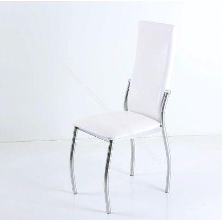 "Кухонный стул ""B-610"" аттика белый/хром"
