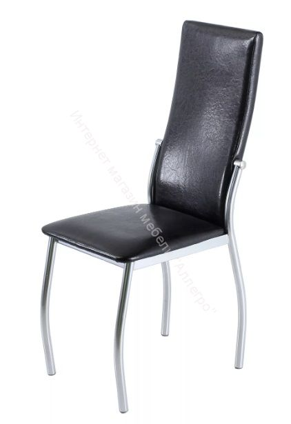 "Кухонный стул ""B-610"" аттика чёрный/хром"
