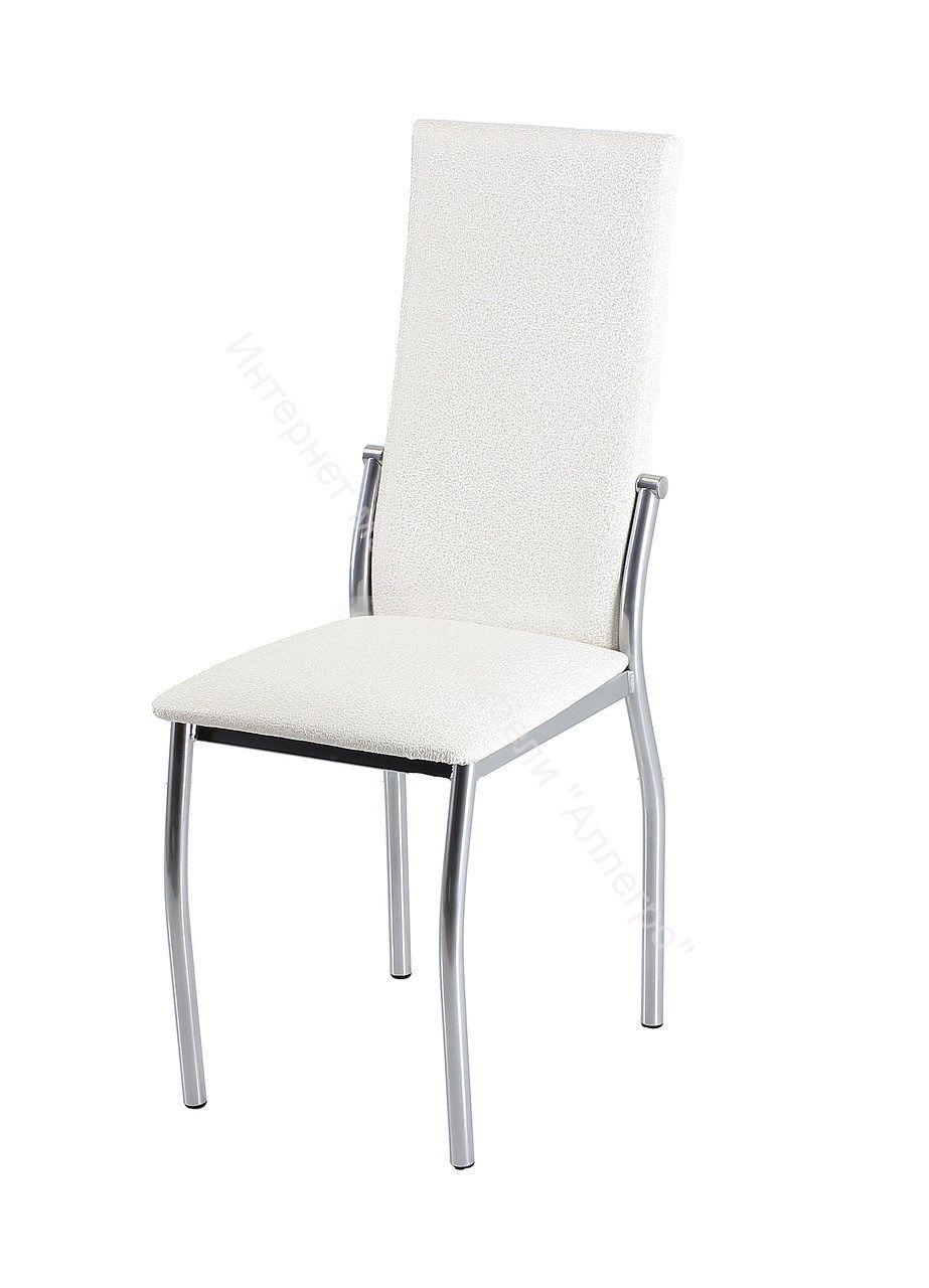 """Кухонный стул """"B-610"""" узор бело золотой/хром"""