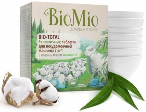 Bio-Mio таблетки для посудомоечной машины Bio-Total с эфирным маслом эвкалипта и экстрактом хлопка 30 шт 650 г