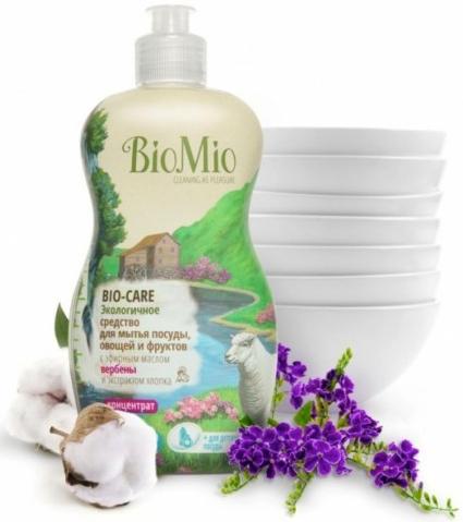 Bio-Mio средство для мытья посуды Bio-Care с эфирным маслом вербены 450 мл