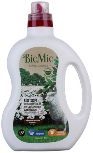 Bio-Mio Экологичный кондиционер для белья Bio-Soft концентрат Корица 1000 мл